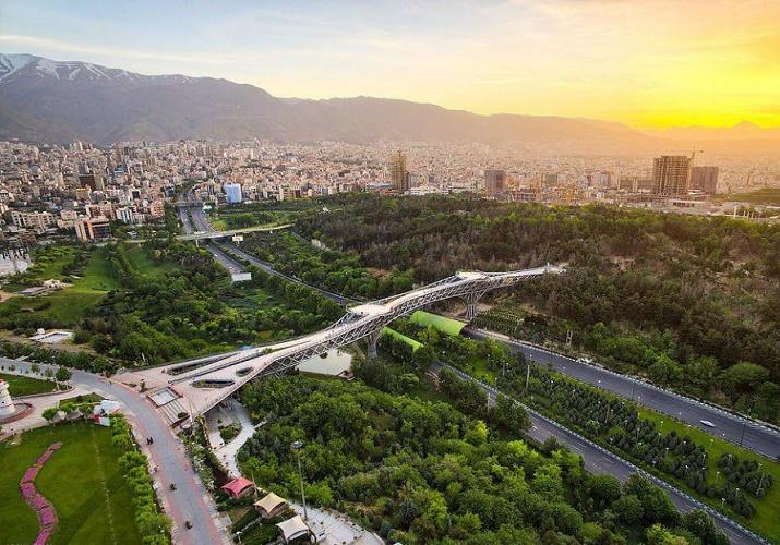 Tabiat Bridge Tehrans modern landmark - پارک آب و آتش تهران ، یکی از زیباترین پارک های ایران