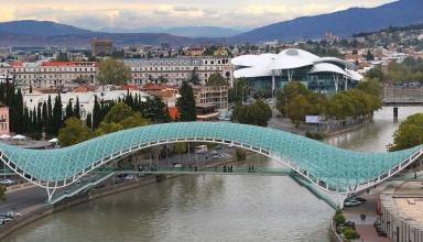 a1bad73b93256752a8b518193b194afa 384x220 - پل صلح تفلیس ، گرجستان | Tbilisi