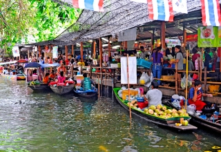 Khlong Lat Mayom 320x220 - بازارهای شناور بانکوک ، تایلند | Thailand