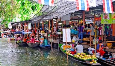 Khlong Lat Mayom 384x220 - بازارهای شناور بانکوک ، تایلند | Thailand