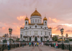 majestic orthodox cathedral of christ saviour with sunset on bank of moscow river it is tallest orthodox church in world timelapse from the patriarchal bridge russia 4k n fy 0cdg  F0000 104x74 - کلیسای مسیح منجی ، بلندترین کلیسای ارتدوکس جهان در مسکو | Moscow