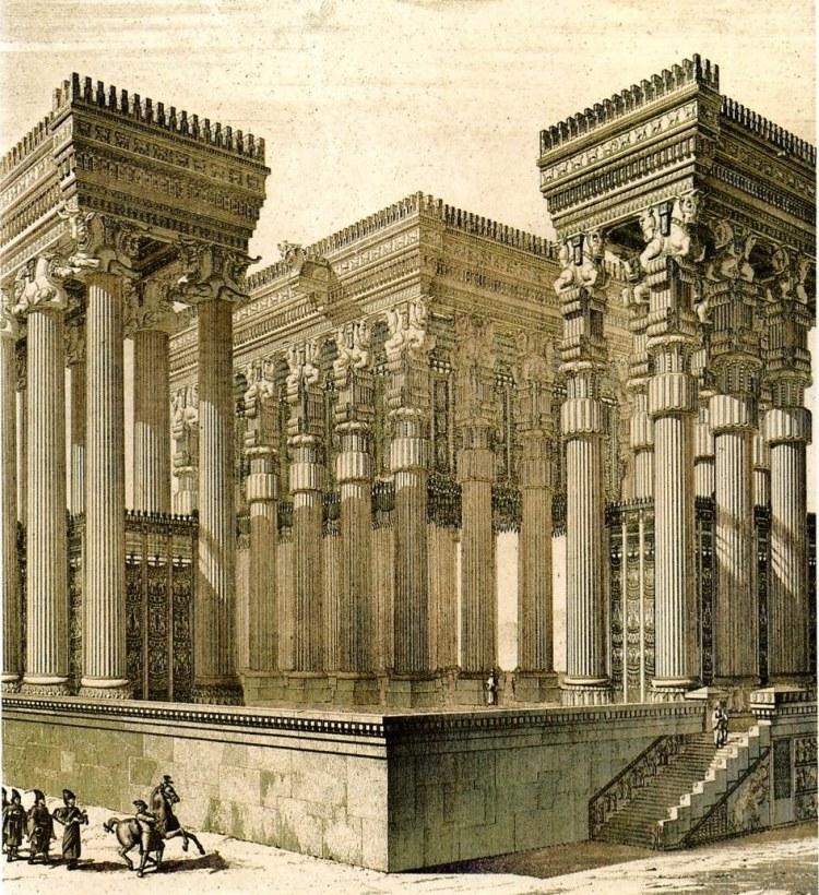 کاخ آپادانای تخت جمشید
