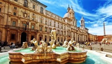 PiazzaNavona 384x220 - میدان ناوونا در رم ، ایتالیا | Rome