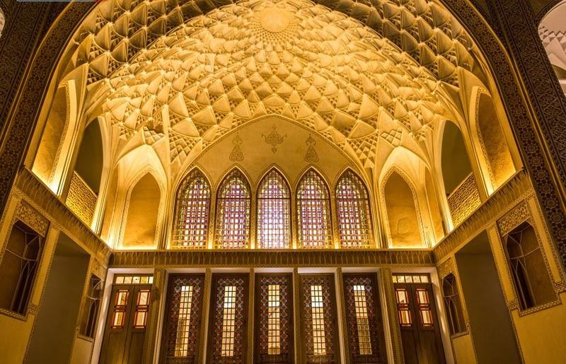 ameri family house kashan entrance - سرای عامری ها ، بزرگترین خانه تاریخی کاشان | Kashan