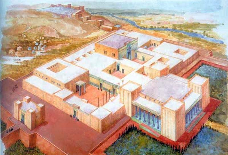 apadana palace painting rendering - کاخ آپادانای شوش | Apadana