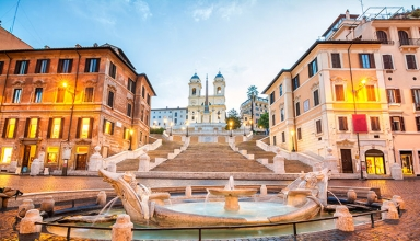 rs spanish steps roman italy europe shutterstock 500304601 384x220 - پله های اسپانیایی رم ، ایتالیا | Rome