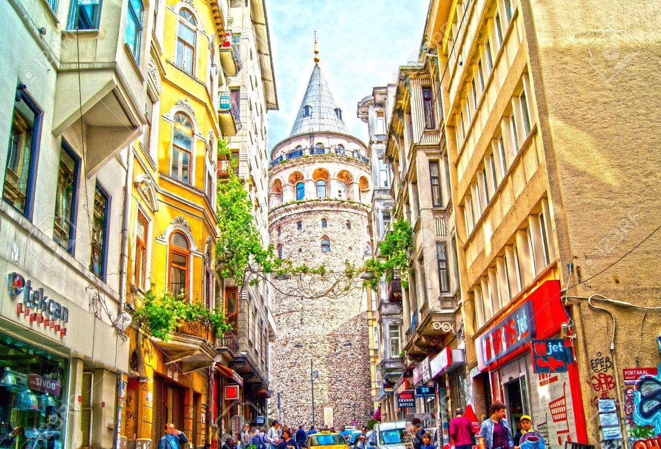 28007810 street near galata tower this is a medieval stone tower one of the city s most striking landmarks is - بهترین محله های استانبول ، ترکیه | Istanbul