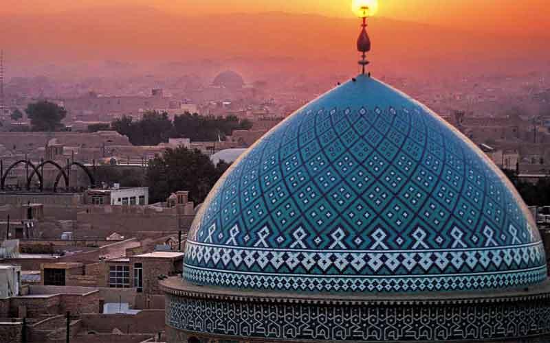 جامع یزد 1 - مسجد جامع یزد ، با بلندترین مناره در جهان | Yazd