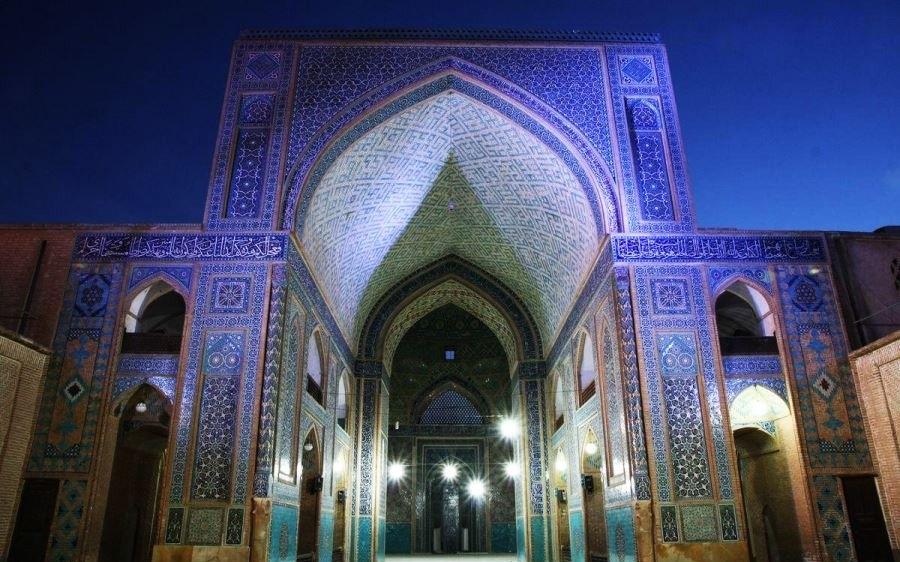 28 e1570778774499 - مسجد جامع یزد ، با بلندترین مناره در جهان | Yazd