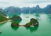 Tourists boats exploring Halong Bay 104x74 - خلیج هالونگ ، از جاذبه های محبوب ویتنام | Ha Long Bay