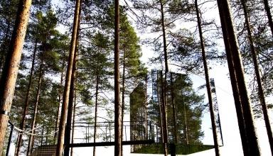 هتل آینه های مکعبی سوئد