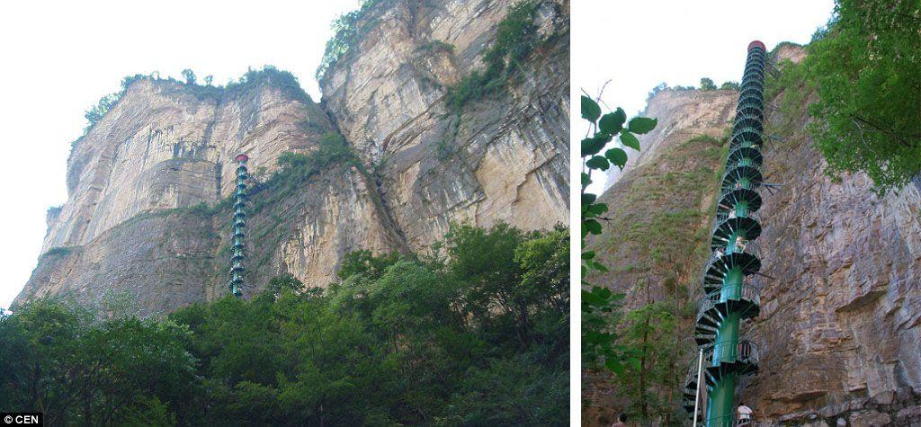 پلکان مارپیچ کوه تایهانگ چین