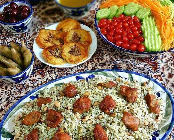 لوبیا پلو شیرازی